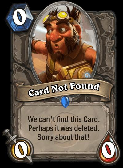 Bugs & Suggestions - Custom Hearthstone Card