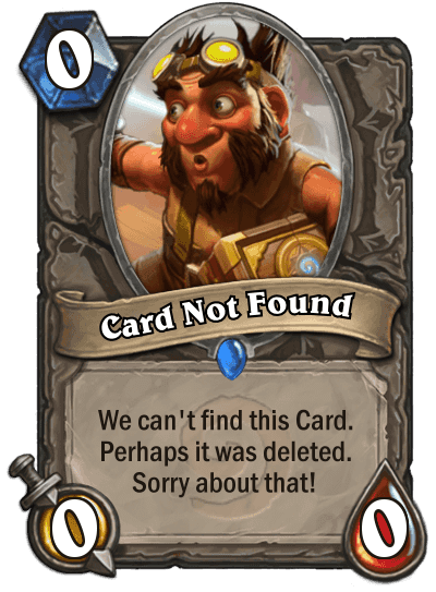 A great card which can actualy compete with other great cards such as mal'ganis.